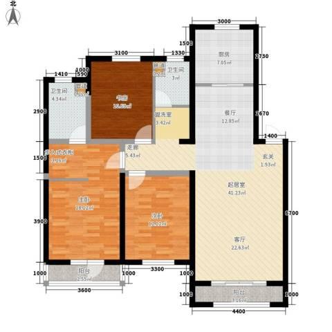 天格东湖湾3室0厅2卫1厨147.00㎡户型图