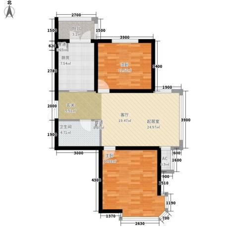 丰乐小区2室0厅1卫1厨80.31㎡户型图