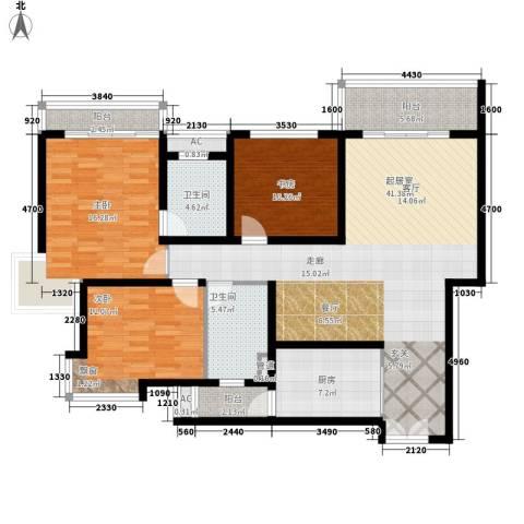 雍景台3室0厅2卫1厨126.00㎡户型图