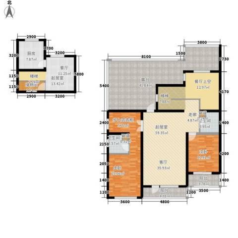 天格东湖湾2室0厅2卫1厨254.00㎡户型图