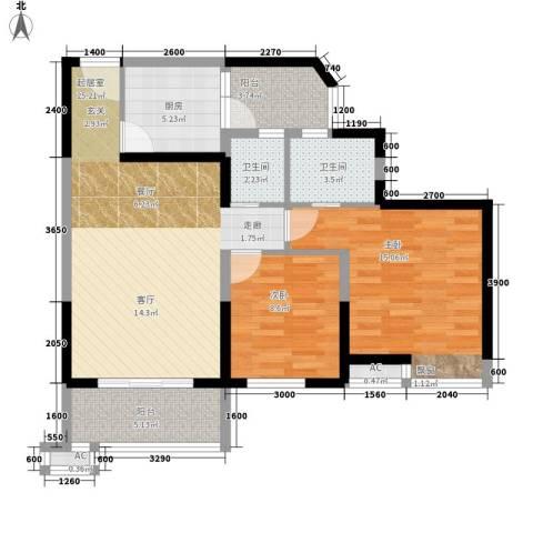 丰乐小区2室0厅2卫1厨81.01㎡户型图