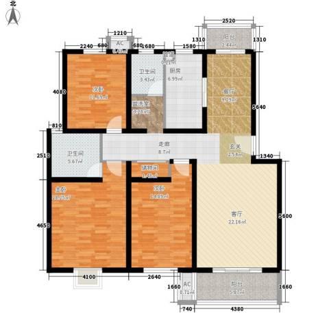 丰乐小区3室0厅2卫1厨135.00㎡户型图