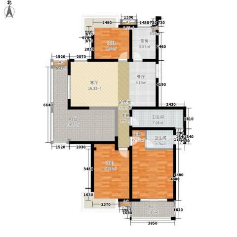 栖霞瑜憬湾3室0厅2卫1厨143.00㎡户型图