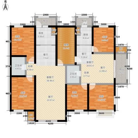 嘉业景园5室2厅2卫2厨229.00㎡户型图