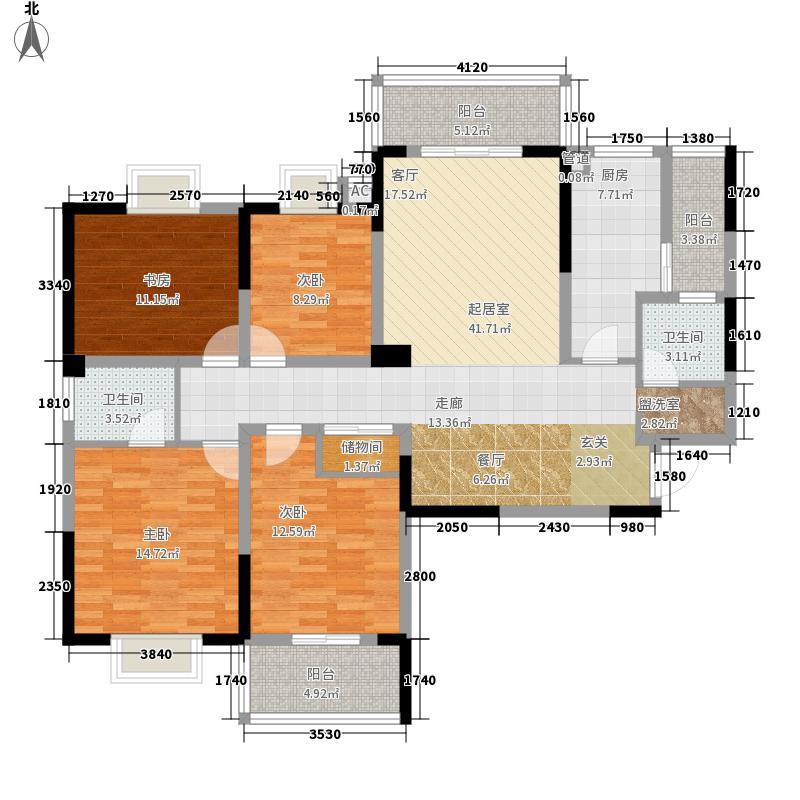 北美印象136.41㎡北美印象户型图1#A户型1364室2厅2卫1厨户型4室2厅2卫1厨