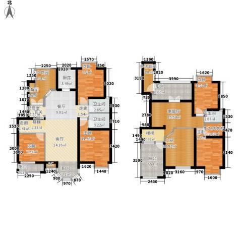西美花城5室0厅3卫1厨166.00㎡户型图