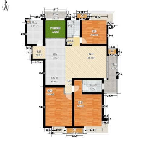 栖霞瑜憬湾3室0厅2卫1厨139.00㎡户型图