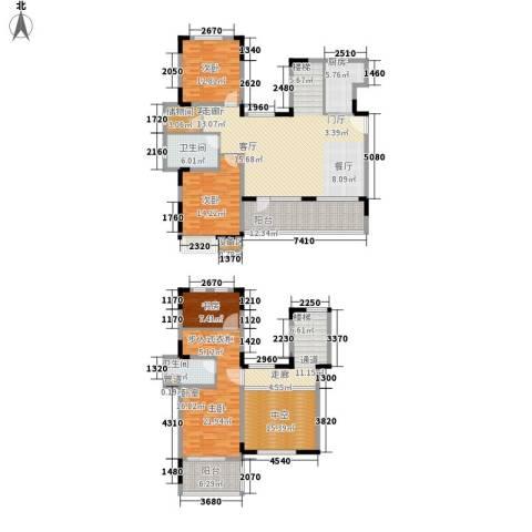 泰达风景4室1厅2卫1厨190.00㎡户型图