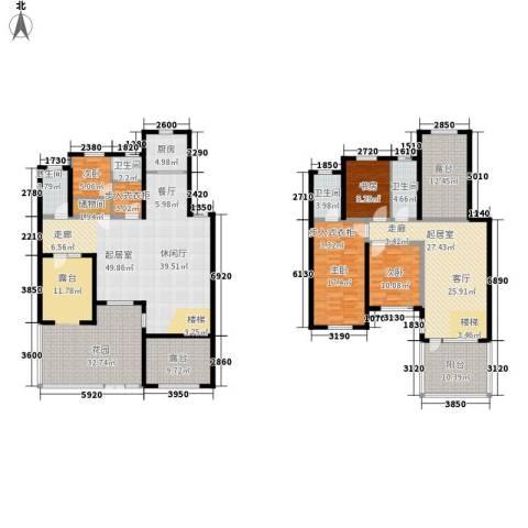 天格东湖湾4室0厅4卫1厨295.00㎡户型图