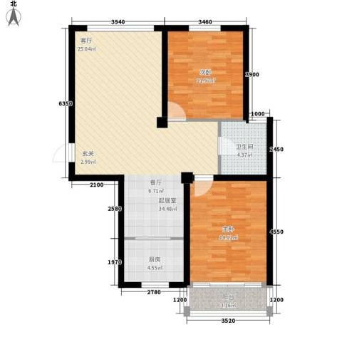 国际新城2室0厅1卫1厨103.00㎡户型图
