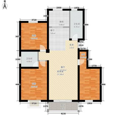 国际新城3室0厅2卫1厨143.00㎡户型图