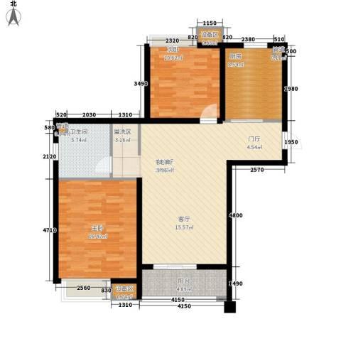 泰达汉郡2室1厅1卫1厨91.00㎡户型图