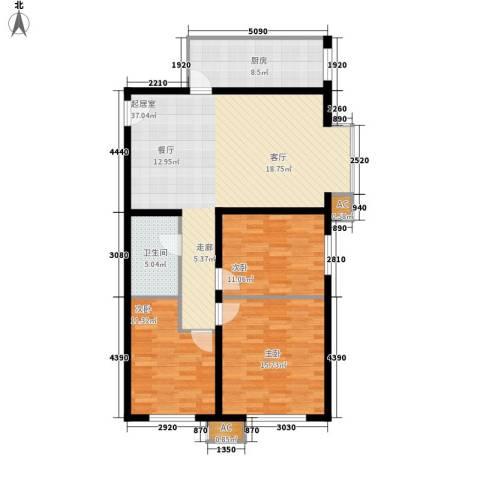 西美花城3室0厅1卫1厨101.00㎡户型图