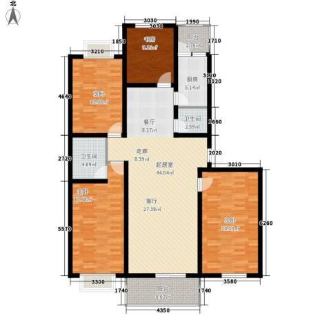 碧水蓝湾4室0厅2卫1厨142.00㎡户型图