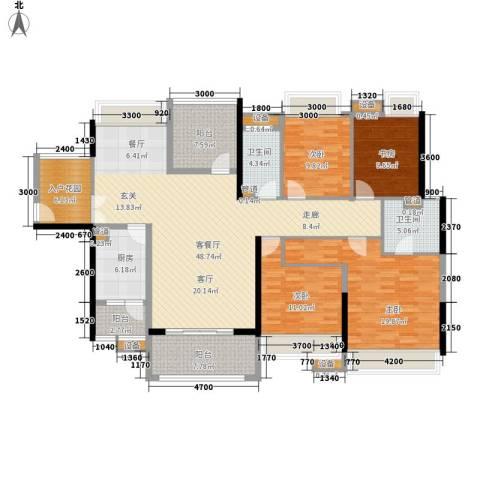 中信凯旋城别墅4室1厅2卫1厨173.00㎡户型图