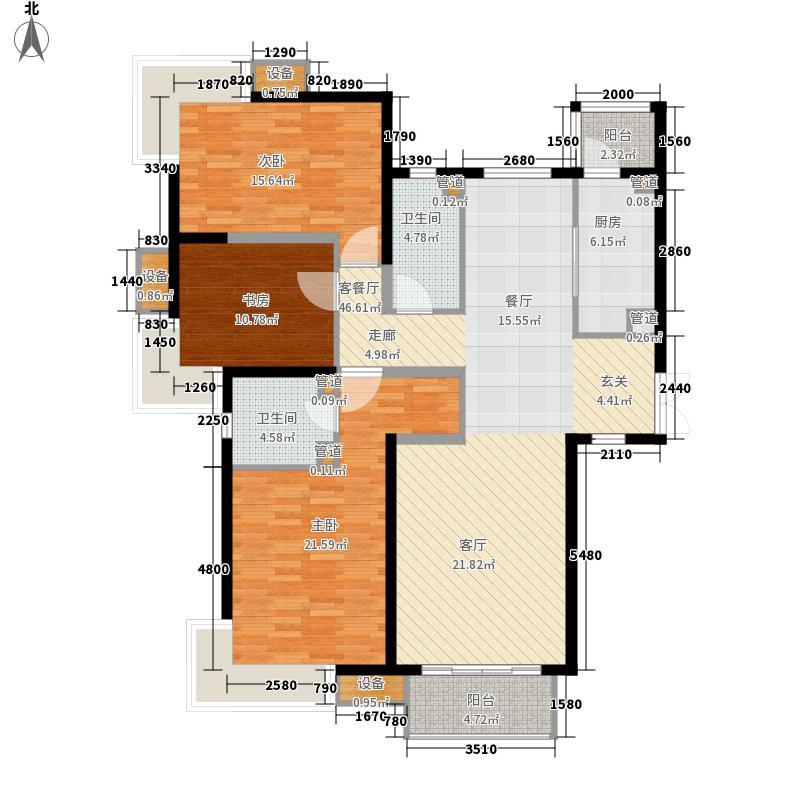 北京如意国际花园136.66㎡北京如意国际花园户型图一期F户型3室2厅2卫户型10室