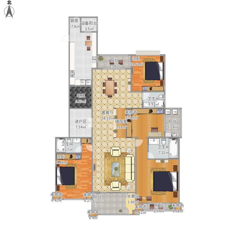 钢泰一品210平方建构