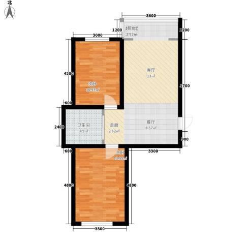 607地质家园2室0厅1卫0厨81.00㎡户型图