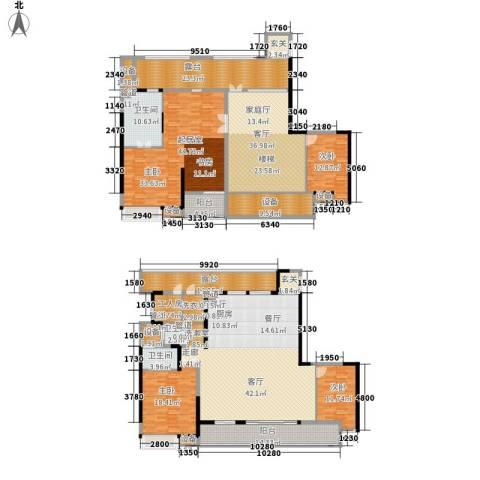 佳兆业御峰3室2厅3卫0厨293.30㎡户型图