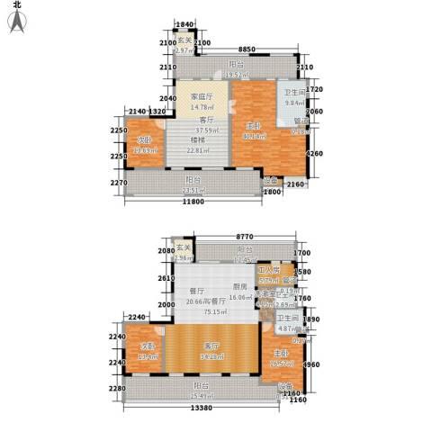 佳兆业御峰4室2厅3卫0厨308.62㎡户型图