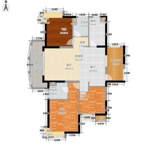 水岸帝景3室0厅2卫1厨127.00㎡户型图