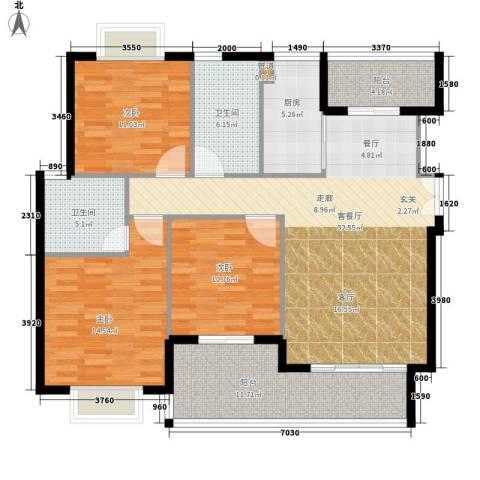 版纳一品3室1厅2卫1厨116.00㎡户型图