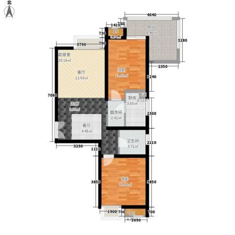 鼎新苑2室0厅1卫1厨102.00㎡户型图