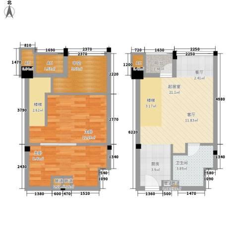 金沙富都2室0厅1卫0厨65.00㎡户型图
