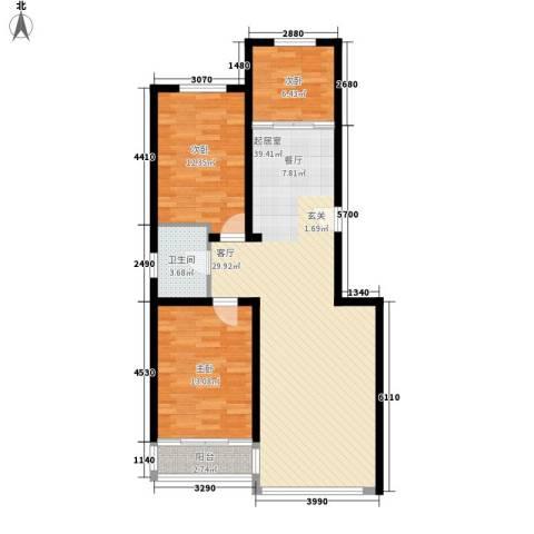 怡景嘉园3室0厅1卫0厨110.00㎡户型图
