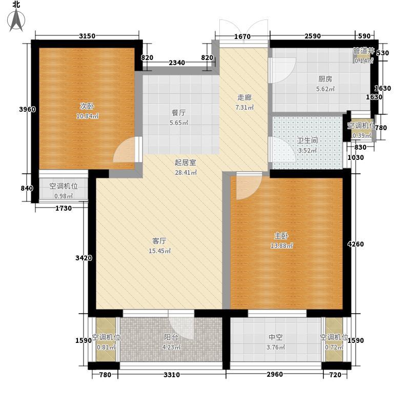 昆仑橡树园85.00㎡昆仑橡树园户型10室