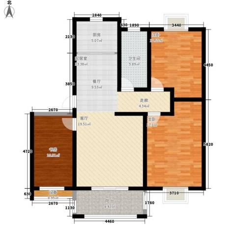 北苑馨居3室0厅1卫1厨106.00㎡户型图