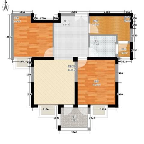 新狮新苑2室0厅1卫1厨68.00㎡户型图