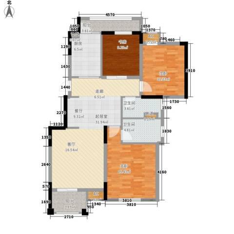 花境3室0厅2卫1厨104.00㎡户型图