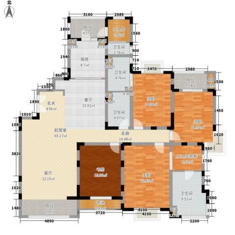 远雄徐汇园4室0厅4卫1厨205.00㎡户型图