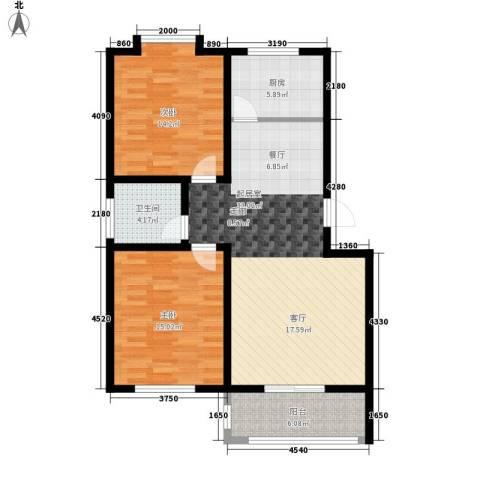 灞柳康馨花园2室0厅1卫1厨89.00㎡户型图