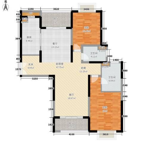 远雄徐汇园2室0厅2卫1厨126.00㎡户型图
