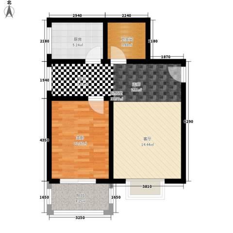 灞柳康馨花园1室0厅1卫1厨61.00㎡户型图