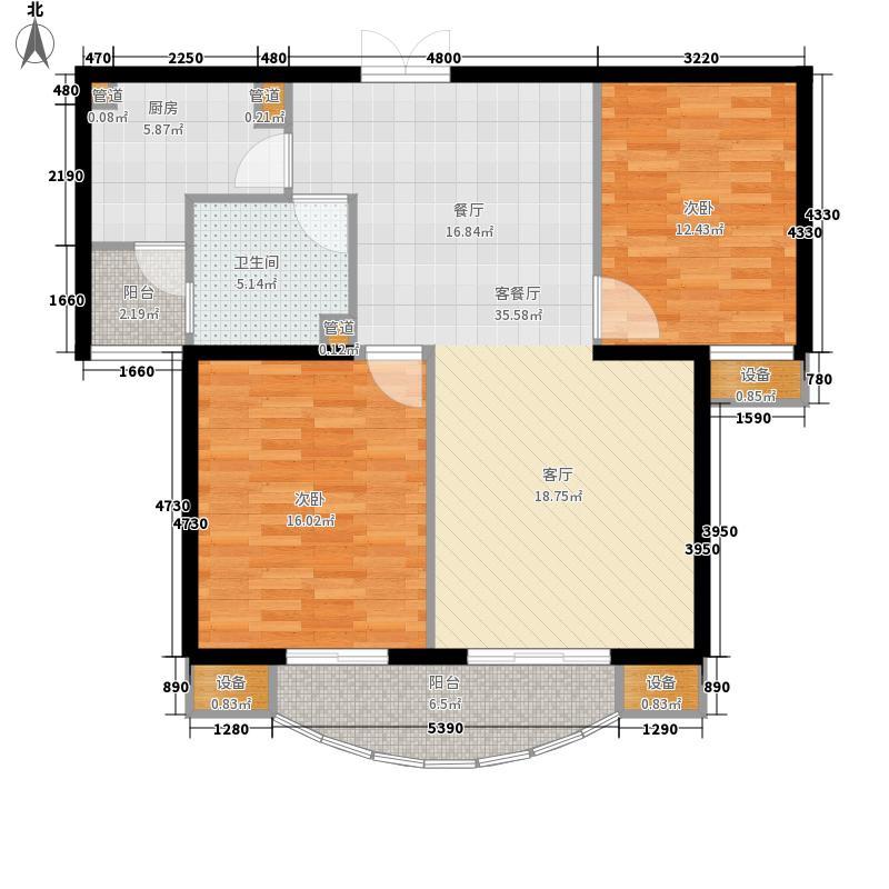 北京如意国际花园86.00㎡北京如意国际花园户型图一期1号楼D户型2室2厅1卫户型2室2厅1卫