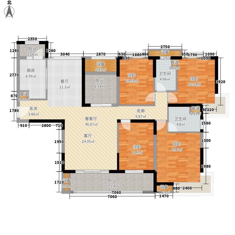 白金府邸210.00㎡白金府邸4室户型4室