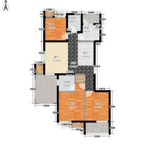 鼎新苑3室0厅2卫1厨140.00㎡户型图