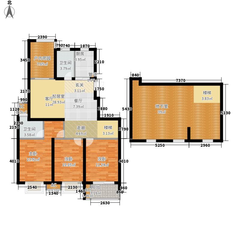栖霞瑜憬湾143.00㎡栖霞瑜憬湾户型图D底层户型3室2厅2卫户型3室2厅2卫