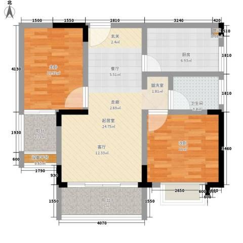 岳银欣苑2室0厅1卫1厨97.00㎡户型图