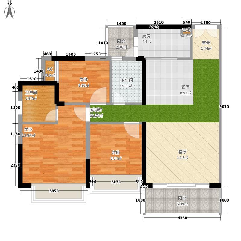 东汇城05大公寓-水牌48x30cm户型