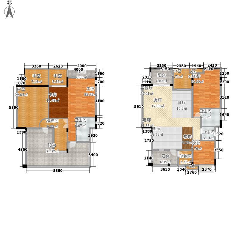 泽科港城国际跃层B5-1户型3室2厅