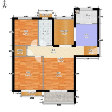 矿冶研究院2室0厅1卫1厨99.00㎡户型图
