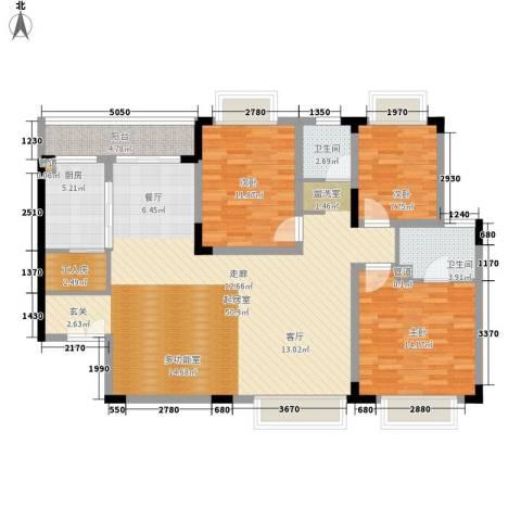 矿冶研究院3室0厅2卫1厨103.93㎡户型图