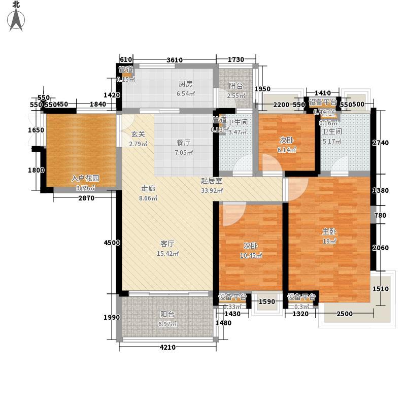 中惠璧珑湾142.00㎡13栋01户型3室2厅