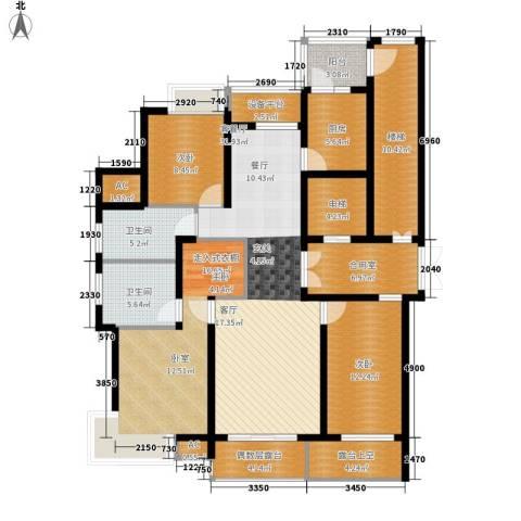 米兰公寓2室1厅2卫1厨144.00㎡户型图