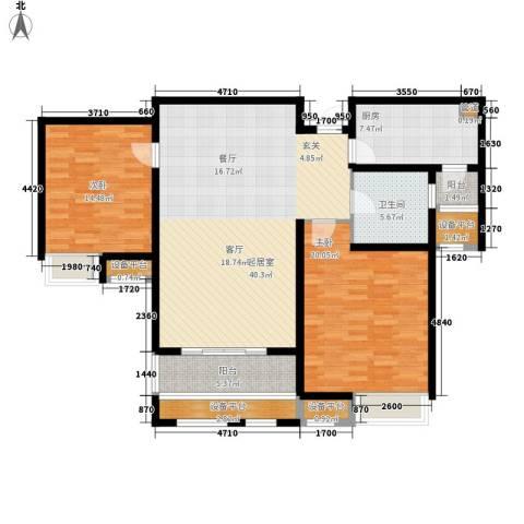 锦宁阁2室0厅1卫1厨116.00㎡户型图
