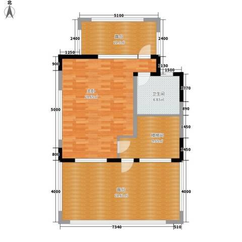 流溪河山庄1室0厅1卫0厨118.00㎡户型图